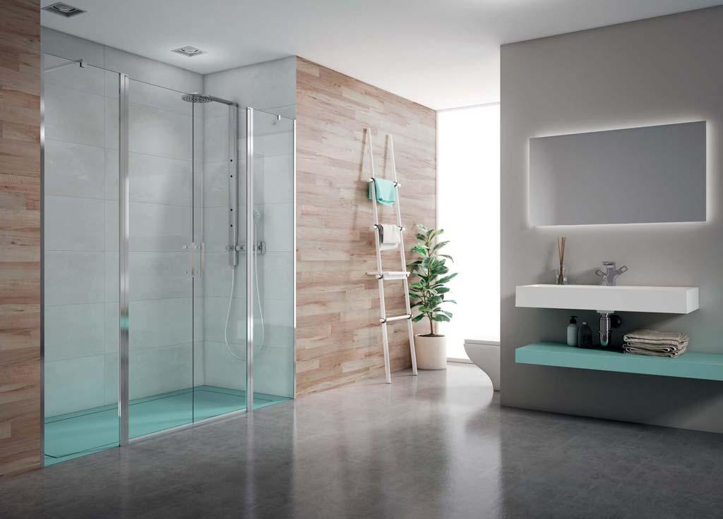 Cambio de bañera por ducha - Baño con plato Strato turquesa