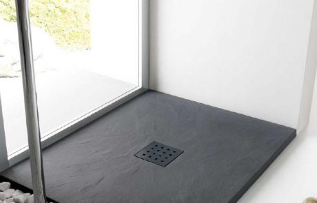 Plato de ducha de pizarra negro